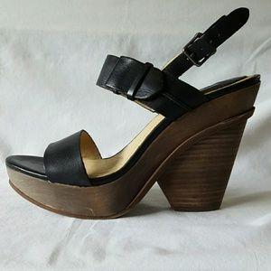 Frye Alessandra Belt Sling Platform Sandal NWOT